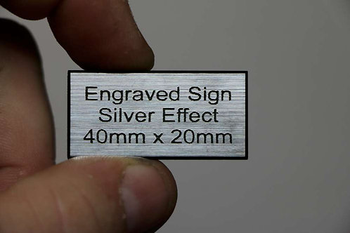 40 x 20mm 1.6mm Silver Laminate