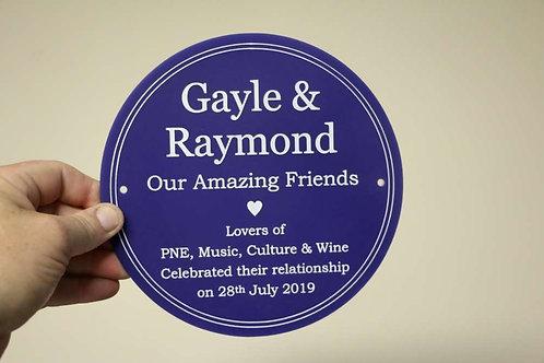 Blue Amazing Friends Plaque 195mm Diameter