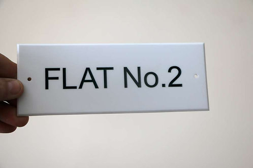 200mm x 75mm Acrylic Sign White