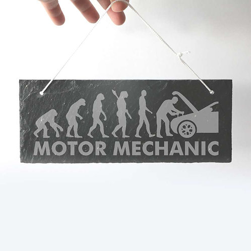 Motor Mechanic Slate Plaque 250 x 95mm approx