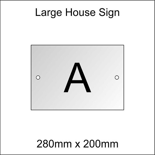 'A' House Sign Large Size