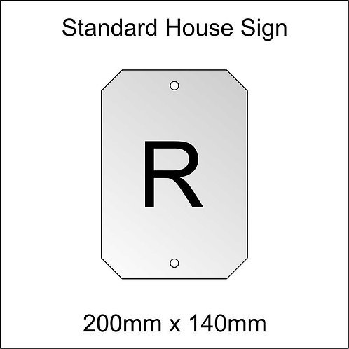 'R' House Sign Standard Size