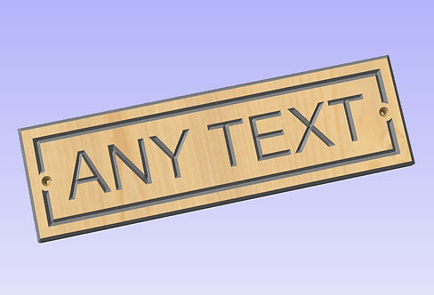 Personalised Wood Sign 300mm x 90mm