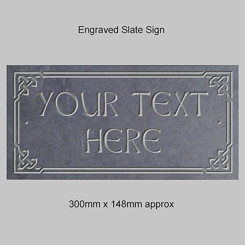 Celtic Border / Name Sign 300mm x 148mm approx