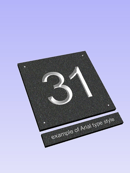 Slate Sign Number 200mm x 200mm approx
