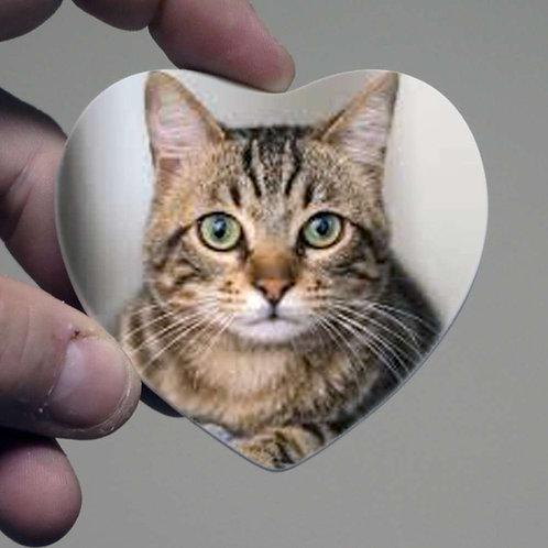 Photo Ceramic 7.5cm Heart - Personalised