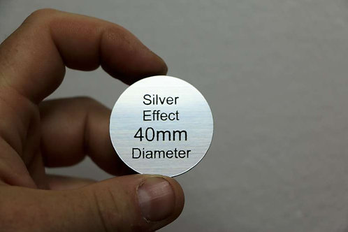 40mm Disc 1.6mm Silver Laminate