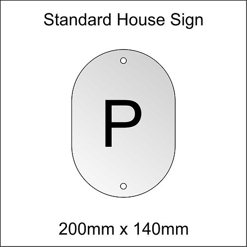 'P' House Sign Standard Size