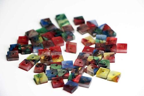 Unique Acrylic Square Bead 8mm