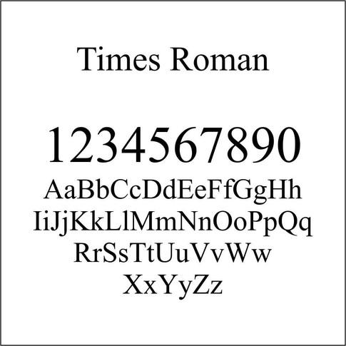 Times Roman