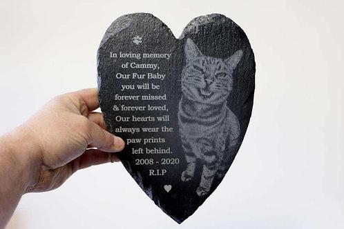 Image Slate 25cm Heart - Personalised