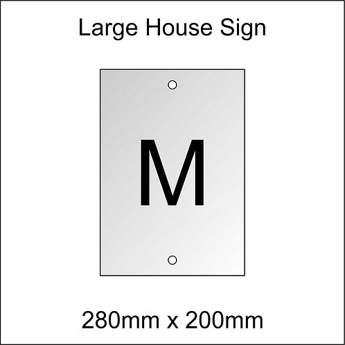 'M' House Sign Large Size