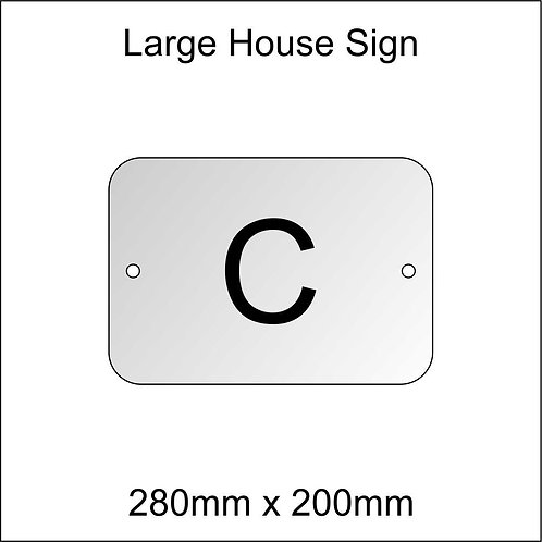 'C' House Sign Large Size