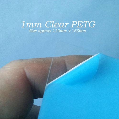 1mm Clear PETG 139mm x 165mm