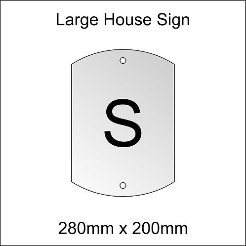 'S' House Sign Large Size