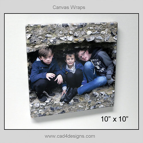 "10""x10"" Canvas Wrap"