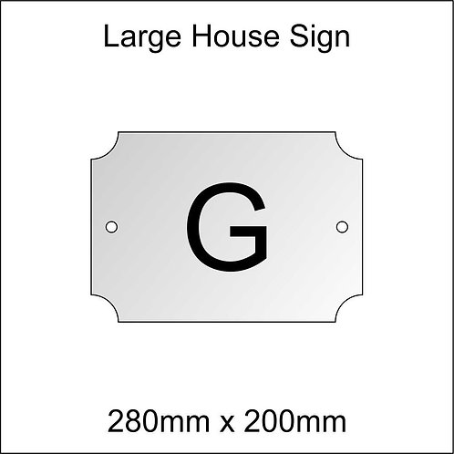 'G' House Sign Large Size