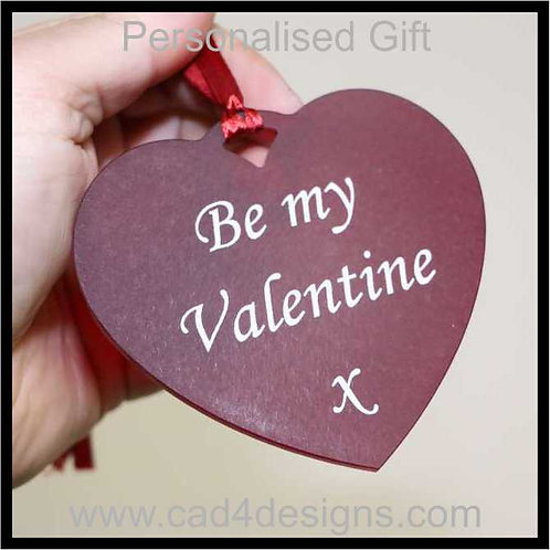 Be My Valentine Heart 10cm Personalised