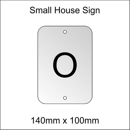 'O' House Sign Smaller Size