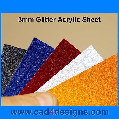 3mm Glitter Acrylic 245mm x 215mm