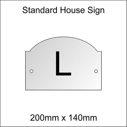 'L' House Sign Standard Size