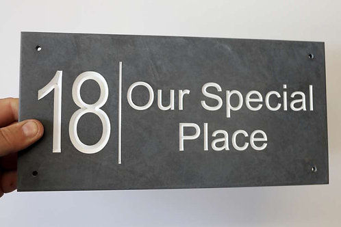 Slate Sign Number / Name 300mm x 148mm approx