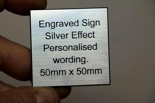 50 x 50mm 1.6mm Silver Laminate