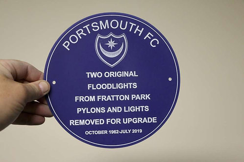 Blue PFC Plaque 195mm Diameter