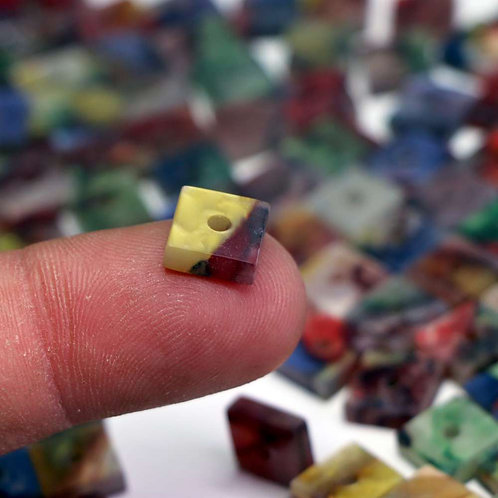 Unique Acrylic Square Bead 10mm