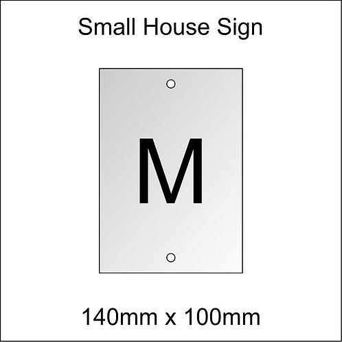 'M' House Sign Smaller Size