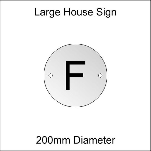 'F' House Sign Large Size