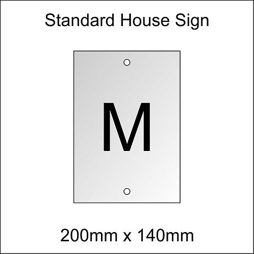 'M' House Sign Standard Size