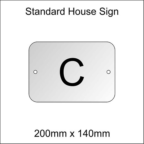 'C' House Sign Standard Size