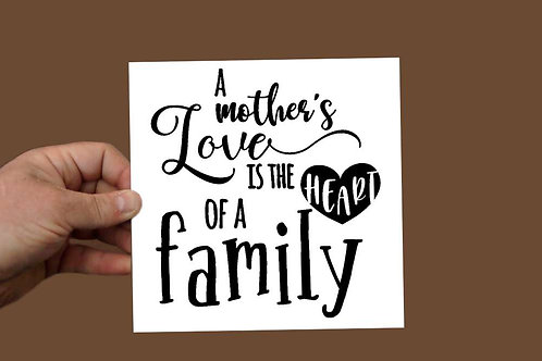 Family Love Printed sign 200 x 200mm
