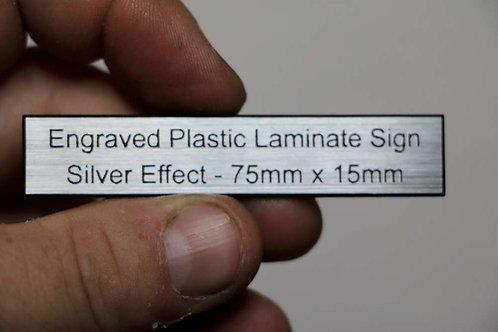 75 x 15mm 1.6mm Silver Laminate