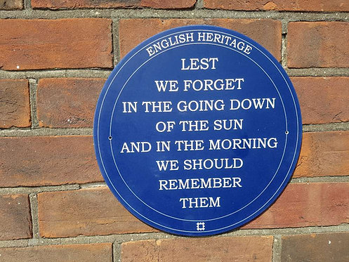 Blue Spoof English Heritage Plaque 195mm Diameter