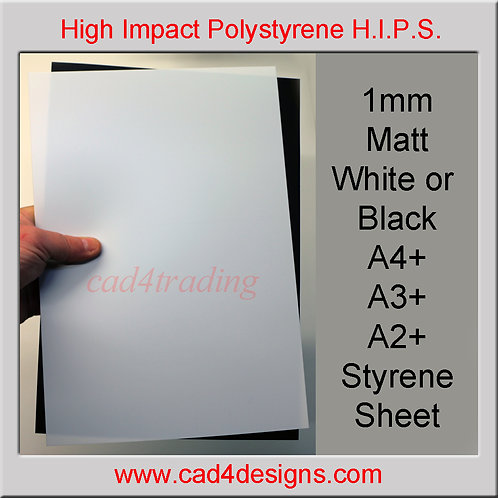 1mm Matt Styrene Sheet