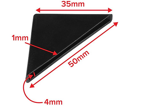 Corner protector black or white 4mm capacity 4x