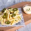 Fries with Cheese 'n' Jalapeno - بطاطس بالجبنه والهلابينو