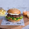 Burger with Cheese 'n' Eggs - برجر بالجبنه والبيض