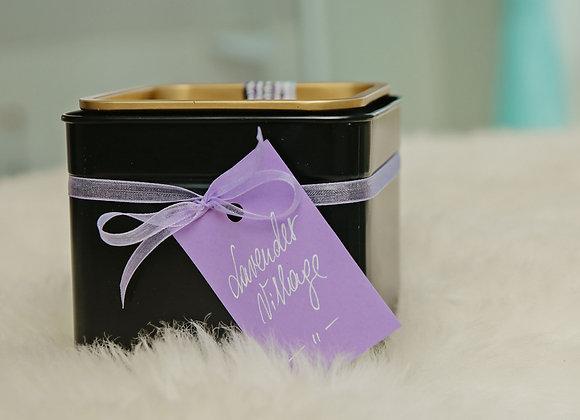 LAVENDER-MINT TEA IN BLACK METAL BOX