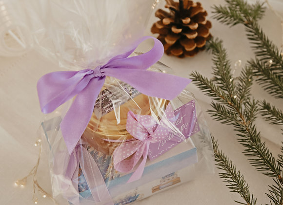 GIFT SET - LAVENDER MINT TEA WITH BOX AND  LAVENDER HONEY