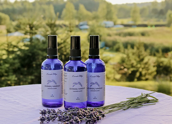 LAVENDER WATER 100 ML BLUE GLASS