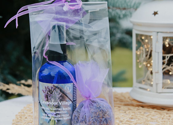 GIFT SET - LAVENDER WATER & LAVENDER FOR WARDROBE