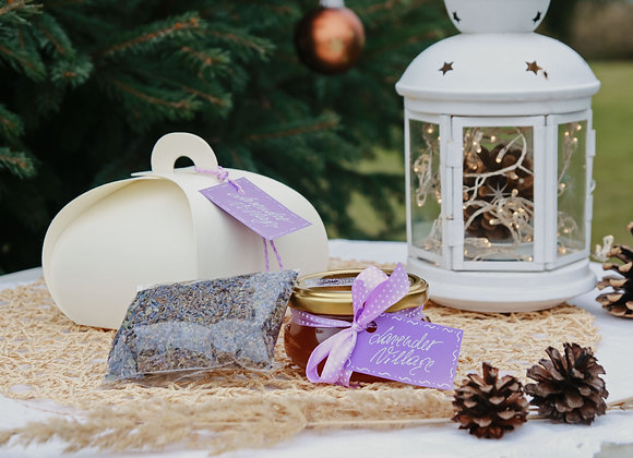 GIFT SET - LAVENDER HONEY & LAVENDER MINT TEA IN ELEGANT BOX