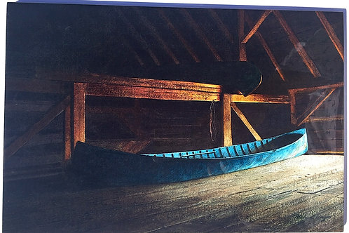 """Blue Boat Tile 8"""" X 12"""""""