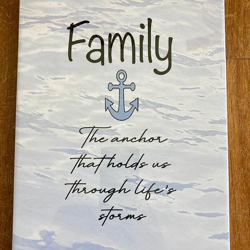 """Family ~ Anchor 8"""" X 10"""" Tile"""