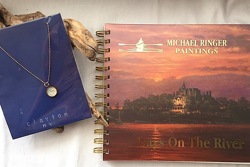 Clayton River Chart Pendant Necklace & Days On The River Journal