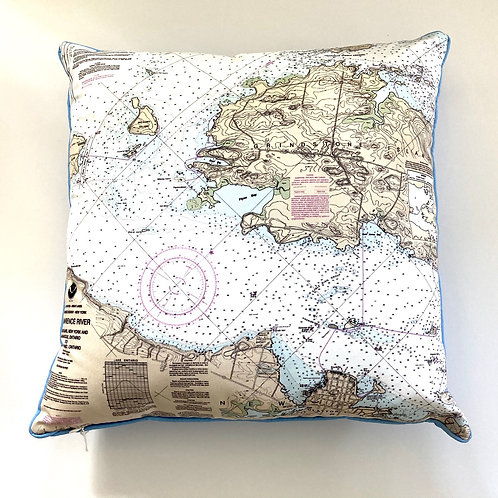 River Chart Pillow