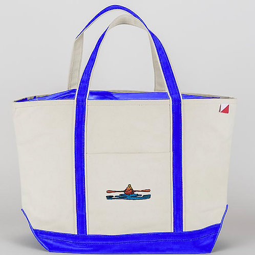 Large Bay Blue Tote Bag